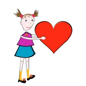 lc-girl holding heart